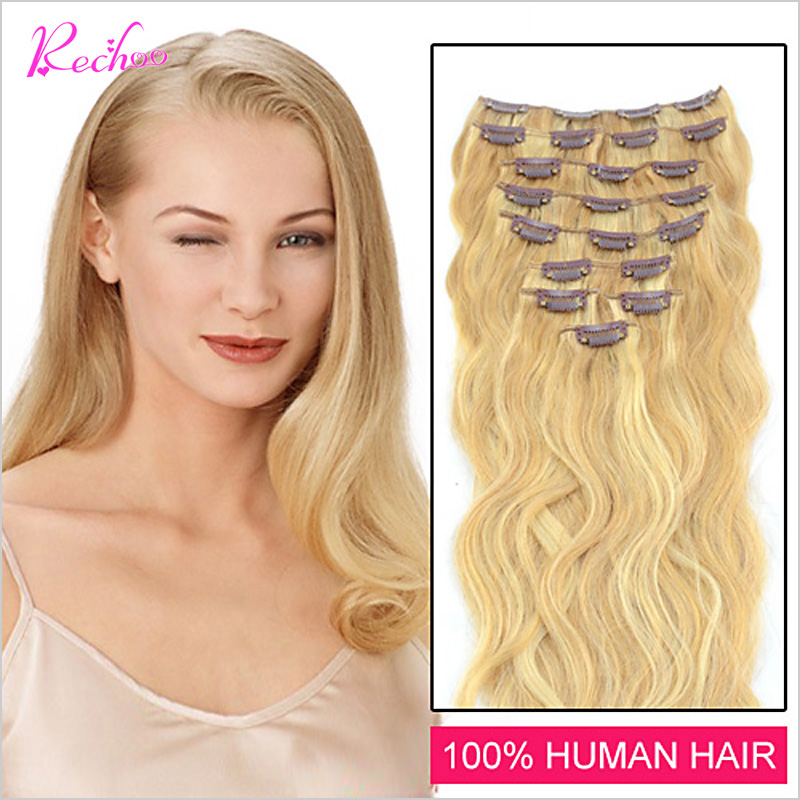 Гаджет  Malaysian Clip In Hair Extensions Body Wave Natural Clip In Extensions Full End Remy 100% Human Hair Clip 7 8 10 Piece None Волосы и аксессуары