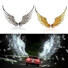 New Car Styling 3D Alloy Metal Angel Hawk Wings Emblem Badge Decal Auto Logo Sticker 2 Colors Decoration Reflective Film(China (Mainland))