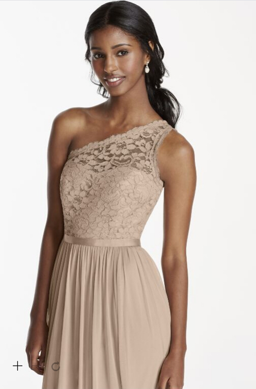 One Shoulder Champagne Bridesmaid Dresses