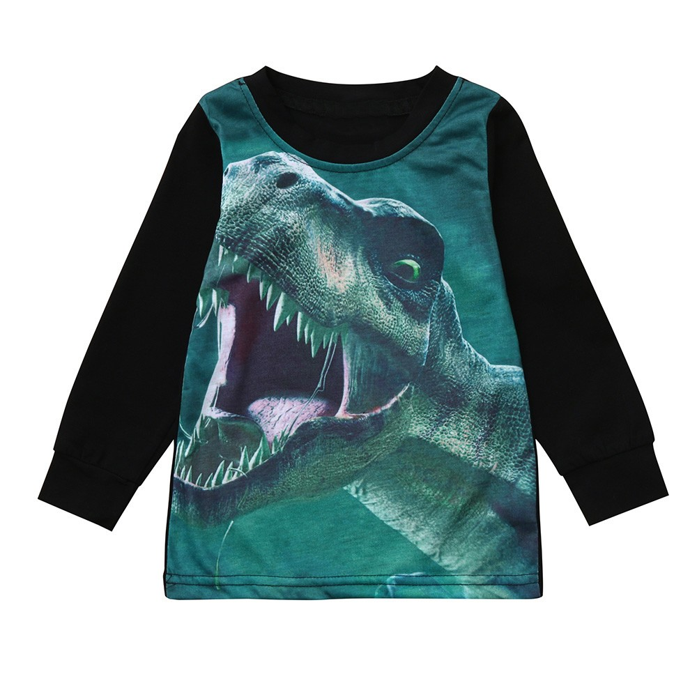 Children Infant Kid Boys Character Cartoon Dinosaur Letter Print T-shirt Tops Shirts Tee Newborn Children's Costume Clothes #40