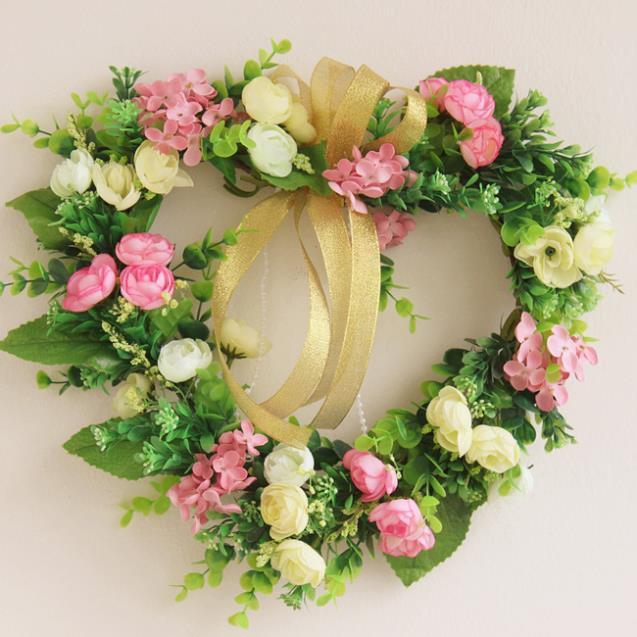 Http Www Aliexpress Com Item Rustic Artificial Flower Decoration Garland Wedding Garland Decoration Hangings Door Trim Wedding Decoration Garishness Heart 1070793196 Html