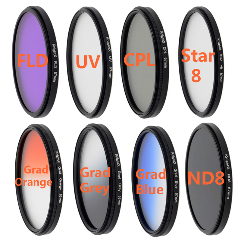 FLD UV CPL lens Gradual color filter 8 Point Star Filter filter set for Sony Nikon D7100 D5300 D5200 D3300 D3200 Canon 1100D(China (Mainland))