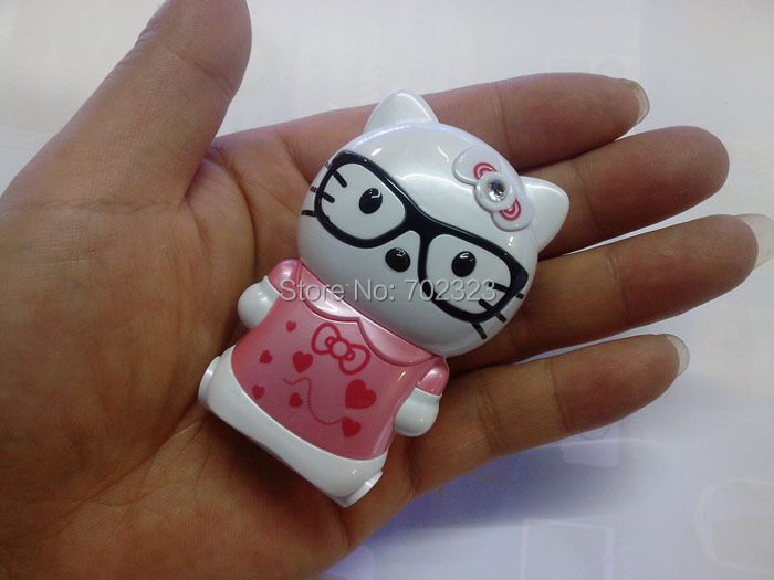 2014 new personality Mini Flip mobile cell phone cute Kaytee Cat woman cartoon children's kitty A2 mobile phone(China (Mainland))