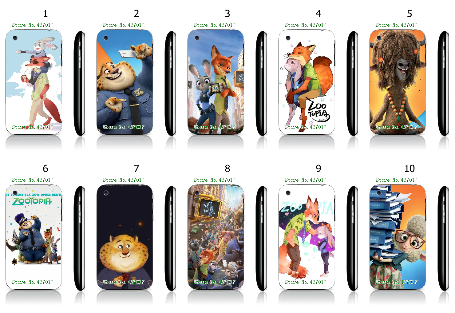 Cool Style Zootopia White Hard Plastic Case Cover for iPhone 3 3GS(China (Mainland))