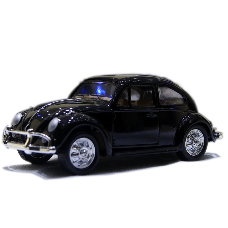1:32 Classic VW Beetle Wecker Vintage Car Models Alloy Diecast Vehicle Pull Back Model Toys Car Collection Furnish Kids Gift #F(China (Mainland))
