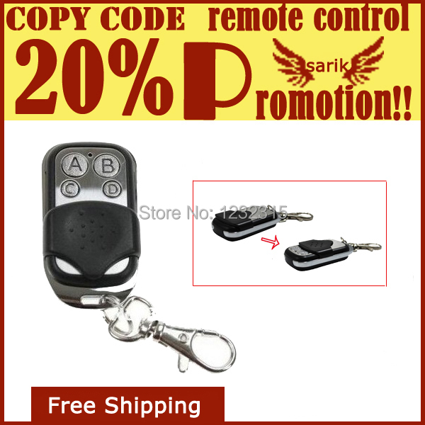 433.92/433/434MHZ fixed frequency RF remote control duplicator for Clone / Copy / Duplicate Garage Door Remote Control(China (Mainland))