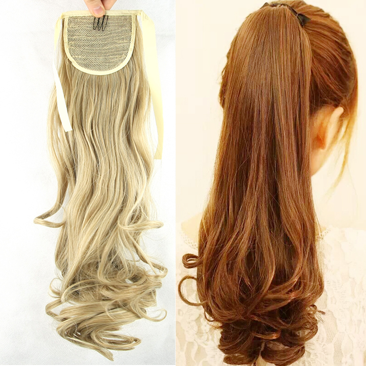 Ponytail Hairpieces Braid Synthetic Hair Ponytail 21 Inch For Beauty Girl Ponytail Extensions 100g Heat Resistant Fibre Hair Pad(China (Mainland))