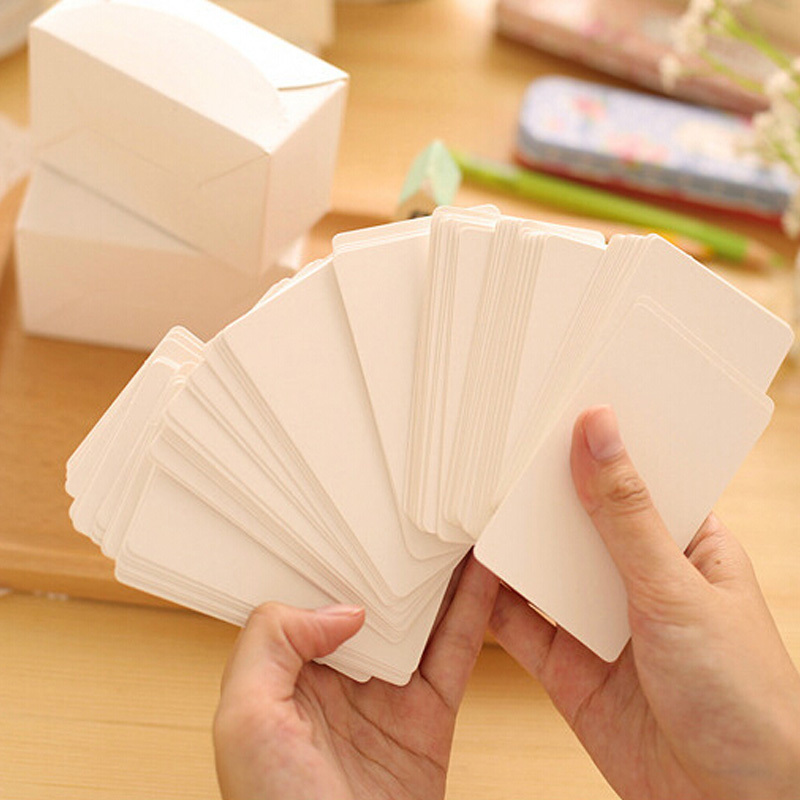 100 pcsset vintage mini greeting card empty gift message cards business card school supplies stationery(China (Mainland))