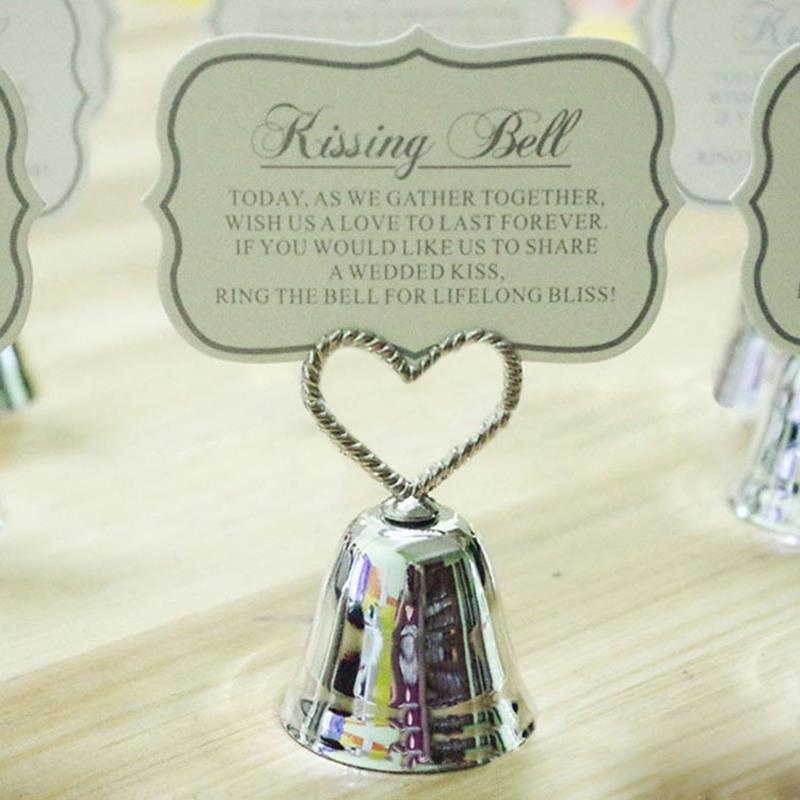 10pcs/set Wedding Supplies Place Holders Bell Heart Table Number figure Card digital seat Message folders(China (Mainland))