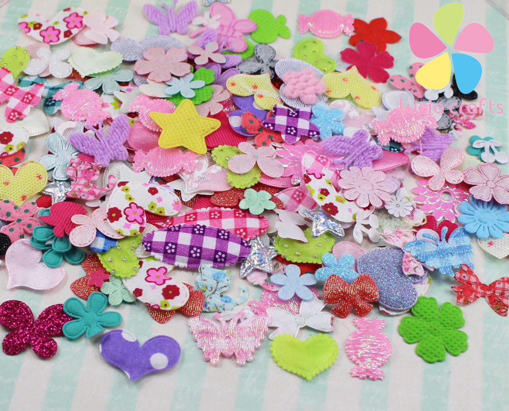 fabric flower mix DIY for wedding decoration and home decoration about 10g/lot,(about 220pcs/bag) 14020006(0.9-4HS10g)(China (Mainland))