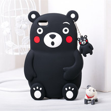 Fashion Cartoon Kumamon Soft Silicone Case for iPhone 6 Plus 6S Plus 5.5″ Lovely Bear Phone Cover Shockproof Rubber Shell