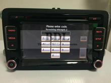 DHL Free shipping Head Unit 6-CD Player Car Radio Stereo RCD510 With Code USB RVC For VW Golf 5 6 Jetta MK5 MK6 Passat B6 B7(China (Mainland))
