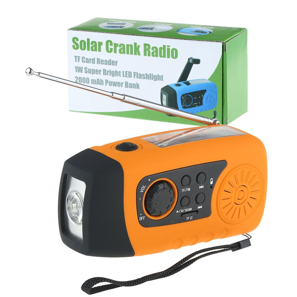 2015 New Arrival HOT Emergency Solar Hand Crank FM Radio MP3 Player Flashlight Smart Cell Phone