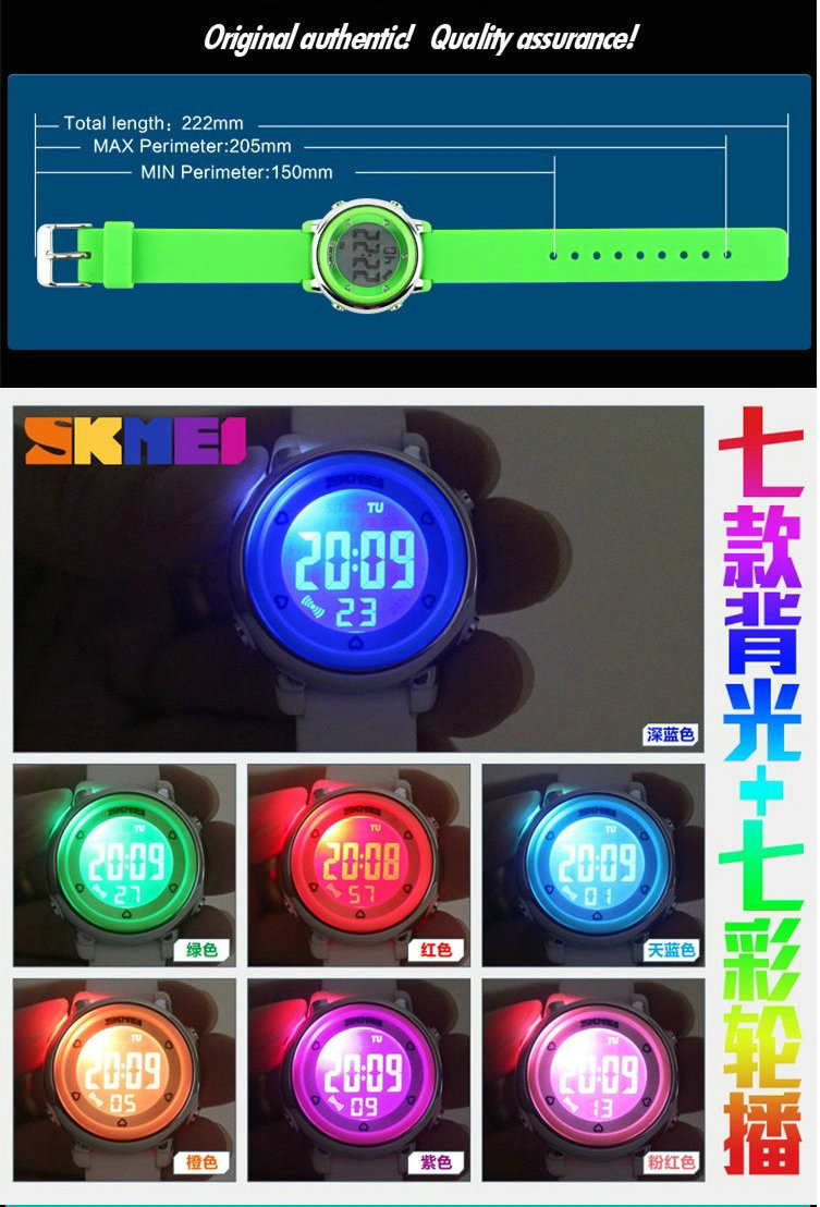 china supplier custom your own logo colorful light cheap children wrist watches