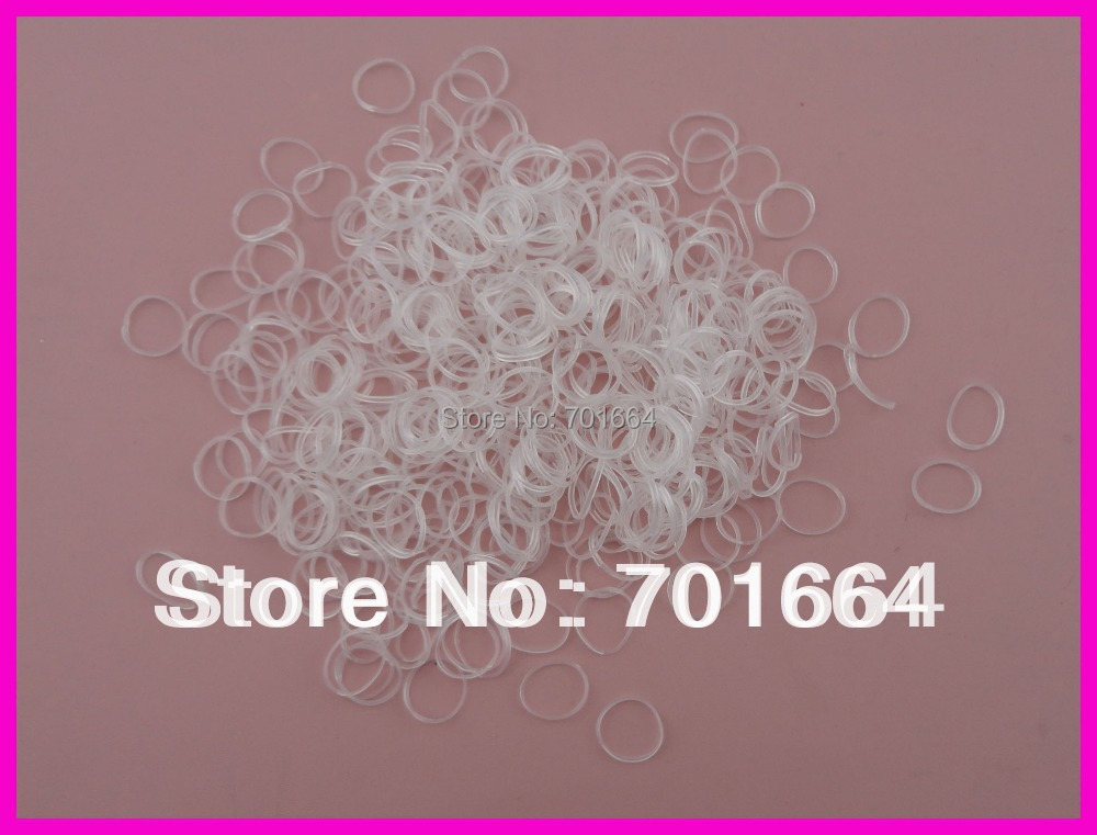"2000PCS 4.0cm 1.6"" length white mini rubber Hairband for Rope Ponytail,white Holder Elastic Hair Band,Ties Braids Plaits(China (Mainland))"