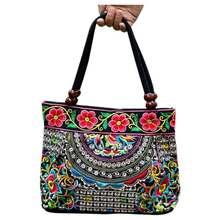 Национальный китайский стиль сумки Вышивка цветы Сумки Этническая Холст сумка ручной работы женские Сумки sac DOS Femme(China)