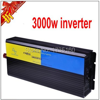6000W Car PowerInverter Converter 3KW Pure Sine Wave Inverter DC TO AC 12V110V for Notebook Laptop Adapter Car accessories(China (Mainland))