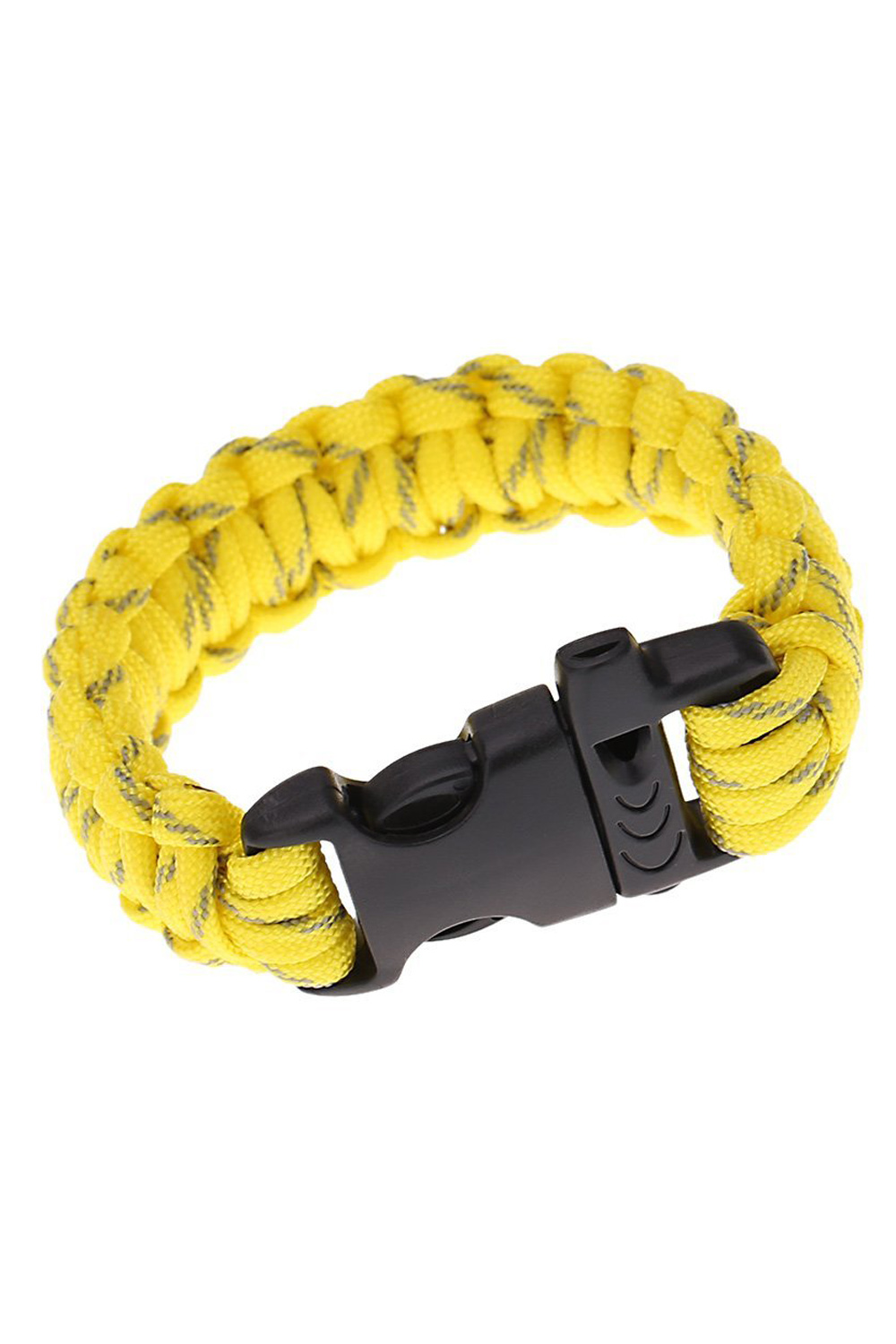 SZ-LGFM-Paracord Parachute Cord Emergency Kit Survival Bracelet Rope with Whistle Buckle Outdoor Camping yellow(China (Mainland))