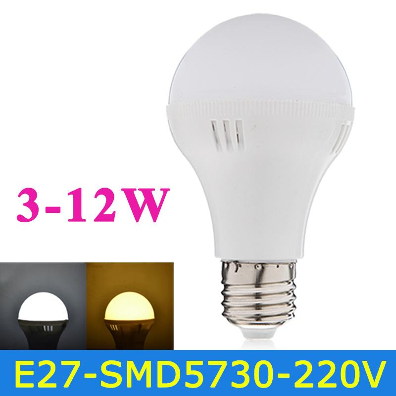 Гаджет  New E27 LED Bulb 220V 3W 5W 7W 9W 12W SMD5730 Lampada LED Lamp Light High Quality Chandelier Lights Warm White/White D3-D12 None Свет и освещение