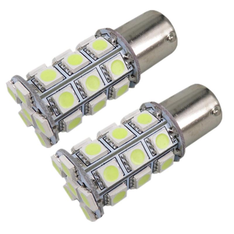 Auto LED 1156 BA15S P21W BAU15S PY21W 5050 27 SMD White Red Yellow Car brake turn parking reversing lamp Rear Tail light 12V 24V(China (Mainland))