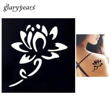 1pc Small Henna Indian Waterproof Tattoo Stencil Blooming Lotus Design Women Body Art Airbrush Paint Temporary Tatoo Sticker G02(China (Mainland))