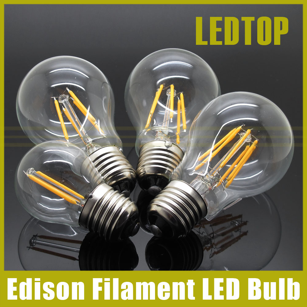 Dimmable E27 Led Bulb 2w 4w 8w 12w 16W Edison Filament COB Lamp 360 Degree 220V 230V Retro Globe Lighting Indoor Living Room(China (Mainland))