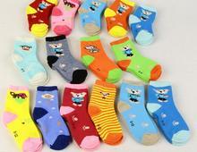 2016 Wholesale cotton children socks kids socks for girls boys 0-12 Age cartoon pattern(China (Mainland))