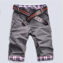 2016 Fashion Casual Plaid Inter F Men's Cropped Jean Pants Men for Leisure Trousers Men Pants Without belt pantalon jeans hombre(China (Mainland))
