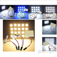 9 / 12 / 15 / 20 / 24 / 48 LED 5050 SMD Car Interior Reading Doom Light Panel T10 Festoon BA9S Adapter Replacement Parts