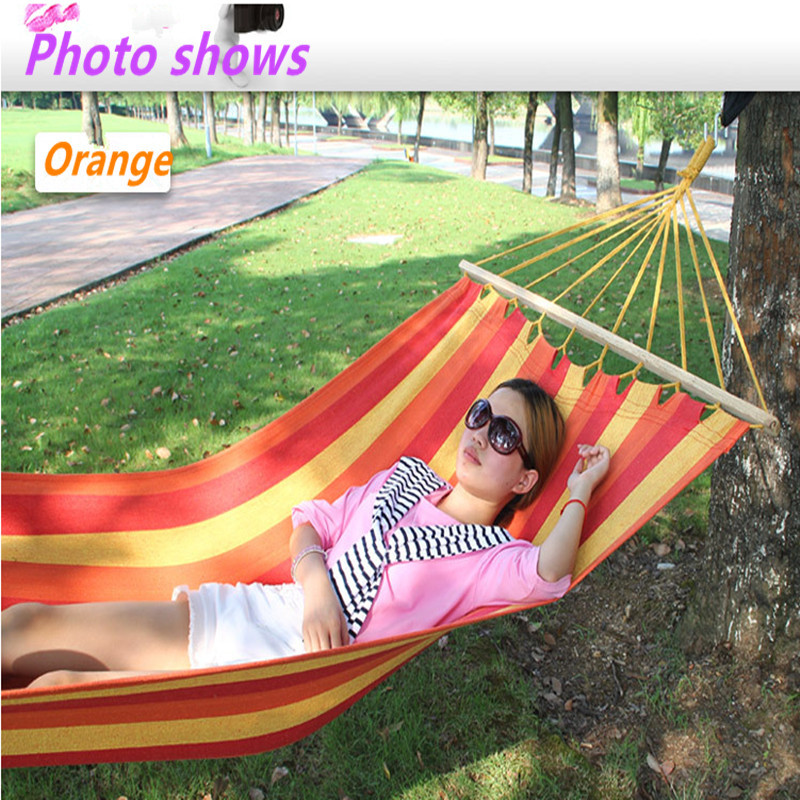 Stick cotton thickening widen hammock Indoor outdoor camping hammock Dormitory hammock 120kg bearing(China (Mainland))