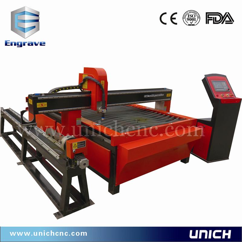 UNICH CE standard with CE Metal cutting plasma with rotary device/cnc plasma machine(China (Mainland))