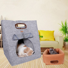 Three Pet Beds With Multifunctional Natural Felt Cloth To Keep Warm Dog And Cat Litter Cat Bed Out Bags GP160107-24