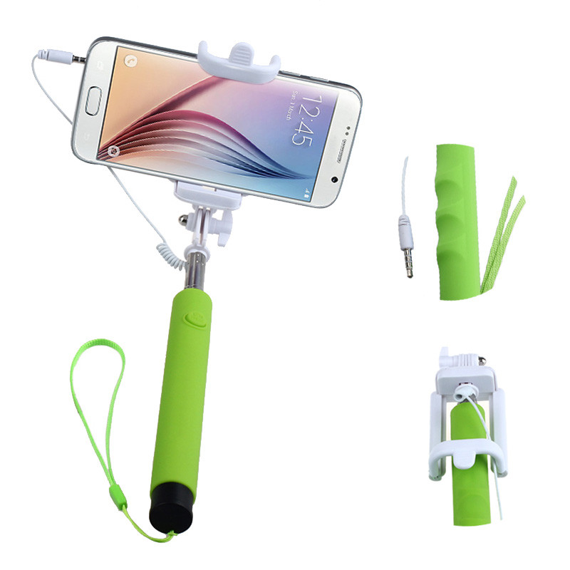 Luxury Selfie Stick telescopic monopod Mini Sponge Unique ball-head Fits easily in pocket support IOS and Android system#75(China (Mainland))