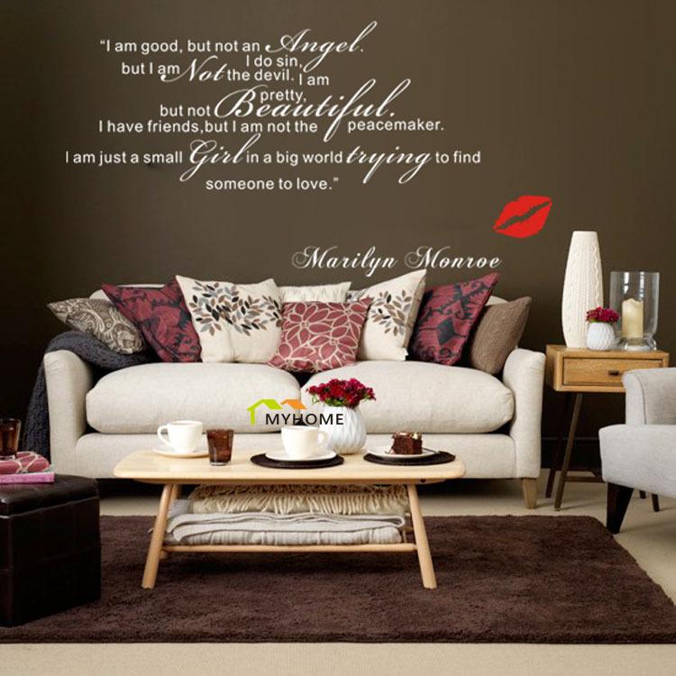 Marilyn Monroe Wall Decals Art Home Living Room Bedroom Decorative Sweet Love