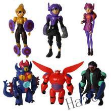 Gifts Hot Big Hero 6 Super Marines Toy 6 Figures Dolls Sets