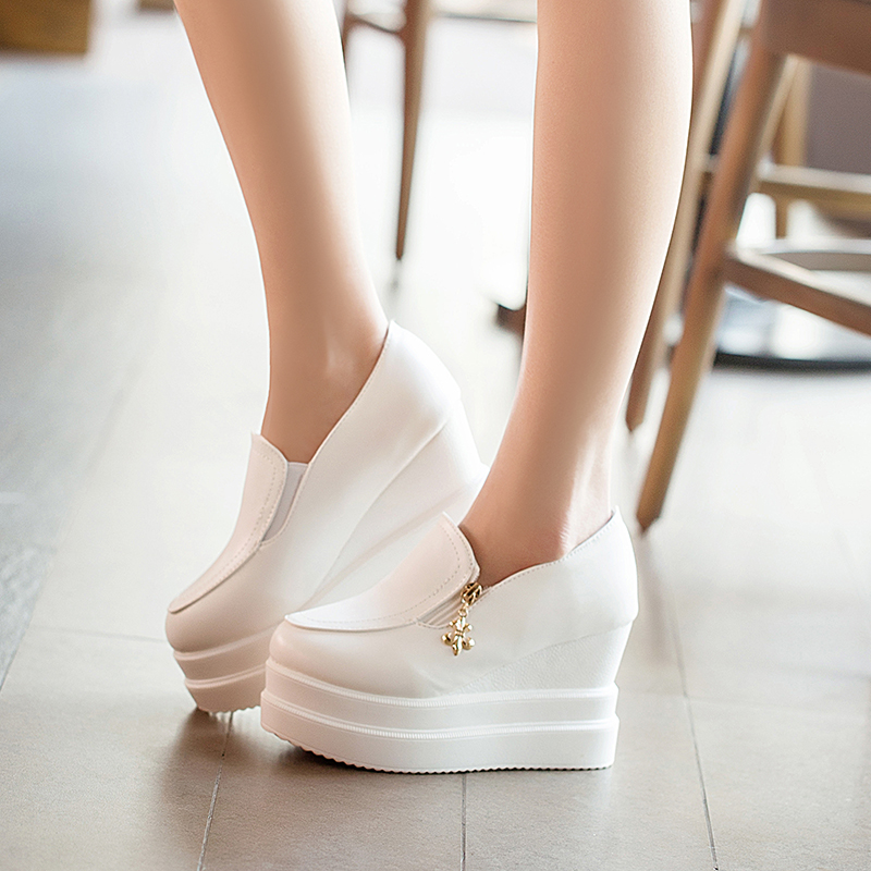 2015 spring and summer platform wedges pumps shoes women platform high heel shoes casual shoes