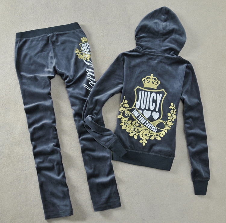 Women's Brand Velvet Print Rhinestone Crown Couture Tracksuits,Velours Suits,Sport Tracksuits,Hoodies & Pants clothes Set(China (Mainland))