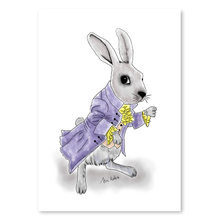 No Framed Simple Modern Cute Rabbit Print Watercolor Painting Wall Painting Home Decor Posters Pictures for Living Room(China)