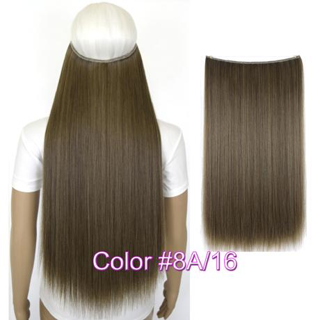 """Верхние термостойкие B5 синтетические волосы 20 """"50 см 50 г эластичность невидимая 8A-16"""