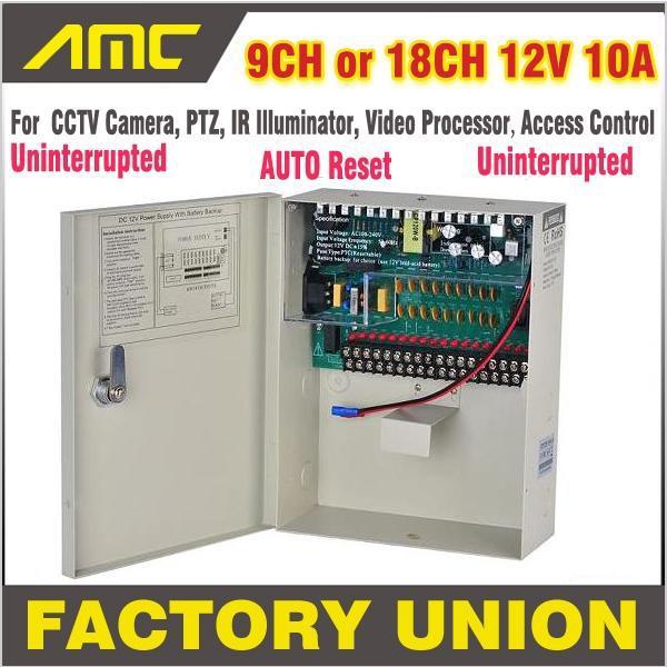 High Quality CE RoHS Uninterrupted CCTV power supply box 9CH 18CH 12V 10A Uninterrupted 9 Channel 18Channel for CCTV Camera(China (Mainland))