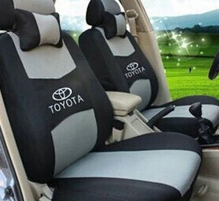 dedicated embroidery logo car seat cushion front rear 5 seat for toyota corolla vios yaris prius. Black Bedroom Furniture Sets. Home Design Ideas