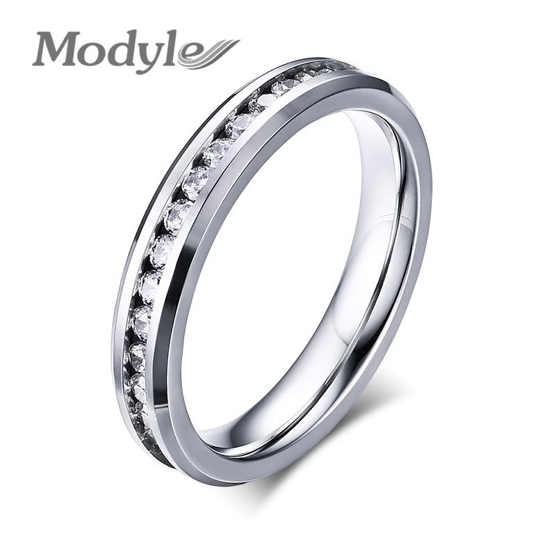 fashion men 39 s titanium rings full zircon titanium wedding