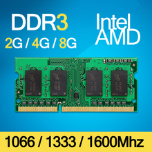 DDR3 1066Mhz / 1333Mhz / 1600Mhz 2GB / 4GB / 8GB 204-Pin Brand New Sealed SODIMM Memory Ram Memoria For Laptop Notebook Lifetime(China (Mainland))