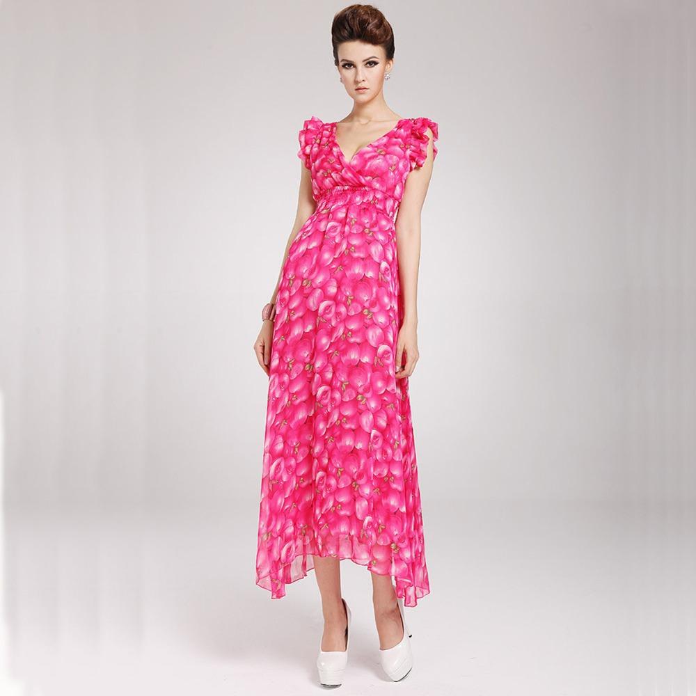 2013 spring summer new korean fashion chiffon long Bohenmian fruit print dresses for women