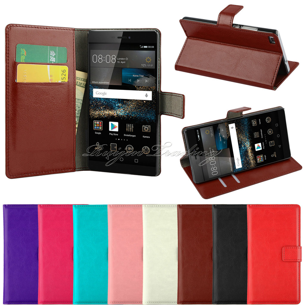 Luxury Flip Leather Stand Mobile Phone Case For Huawei P7 P8 P8 Lite Y330 Wallet Cover Case For Huawei P8 lite With Card Slot