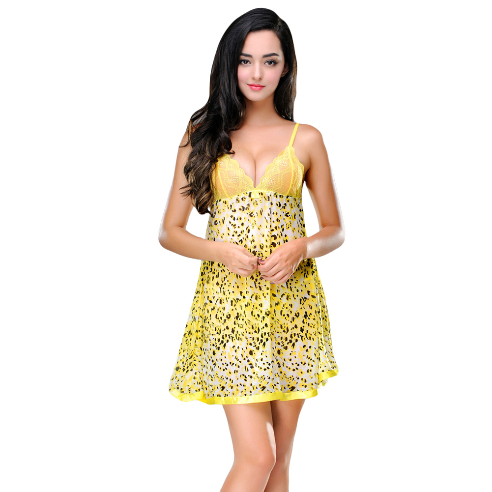 Leopard Baby Doll Dress for Women  Dress images