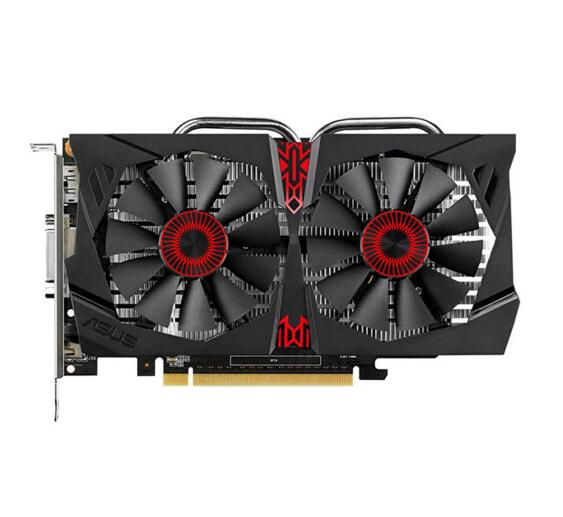 High performance GTX750TI NVIDIA GeForce STRIX-GTX750TI-OC-2GD5 PCI-E 3.0 16X 1202 Mhz / 5400 Mhz GDDR5 2G 128bit game graphics()