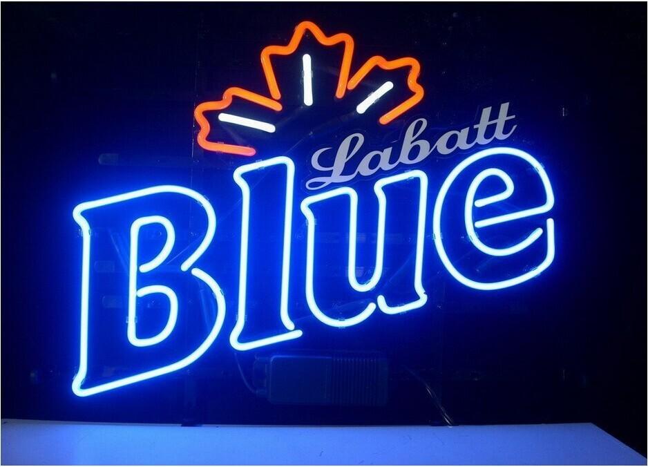 RG Neon Sign Labatt Blue Pub neon sign Beerbar Sign Neon Beer Sign 19X15(China (Mainland))
