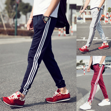 2016 Summer Mens Brand Fashion Slim Fitness Sports Pants Casual Gym Clothes Joggers Running Trousers Hommes with Plus Size WS888