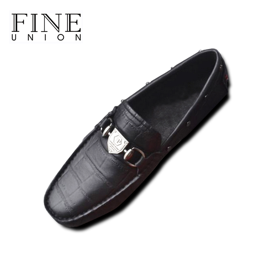 2016 Spring Mens Crocodile Embossed Genuine Leather Loafers,Men Brand Black Flat Shoes,Casual Zapatos Hombre,Male Designer Shoes